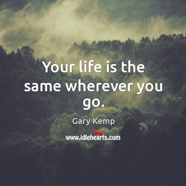 Image, Your life is the same wherever you go.