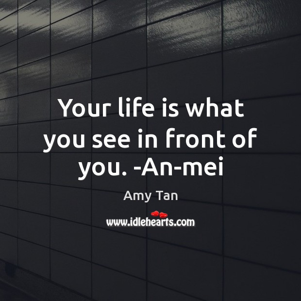 Your life is what you see in front of you. -An-mei Image