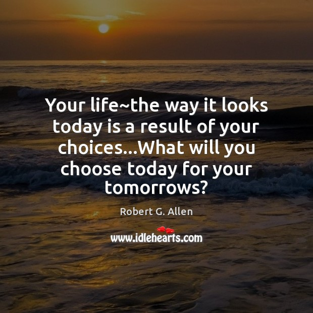 Your life~the way it looks today is a result of your Image