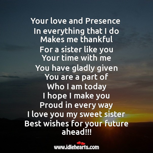 Your love and presence in everything that I do makes me Image