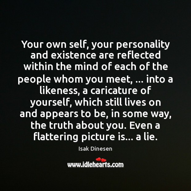 Image, Your own self, your personality and existence are reflected within the mind