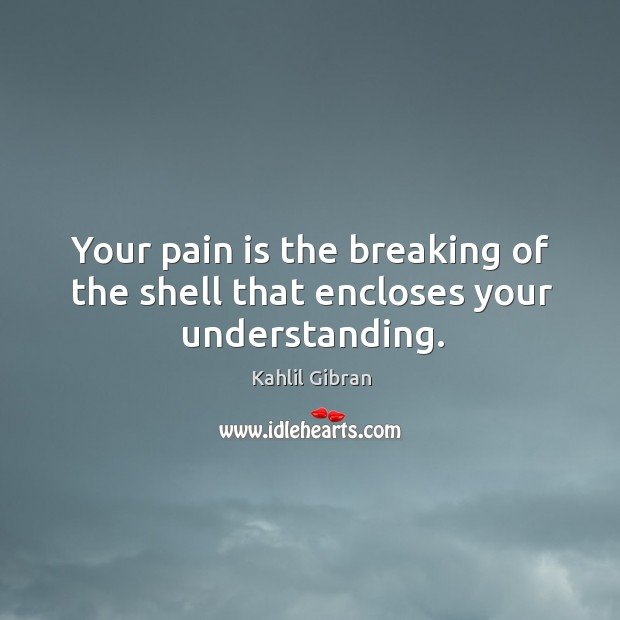 Your pain is the breaking of the shell that encloses your understanding. Image