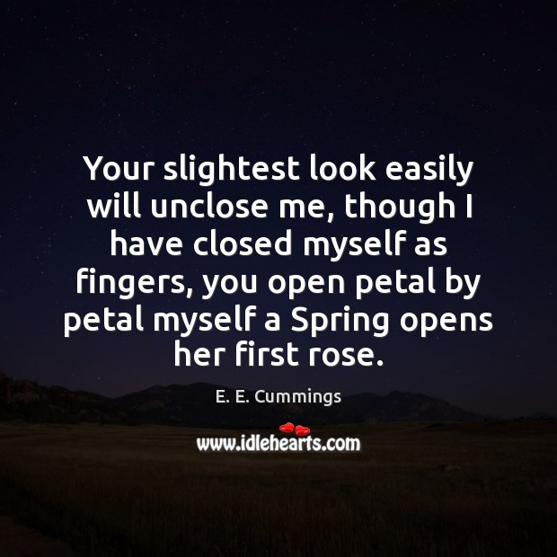 Your slightest look easily will unclose me, though I have closed myself Image