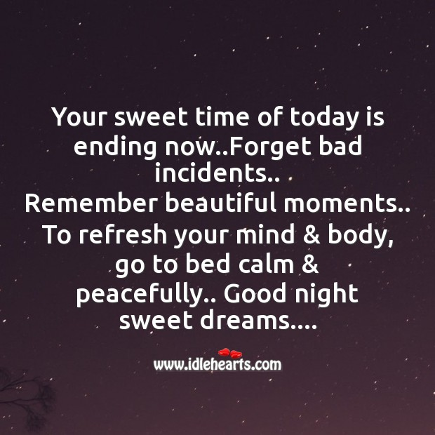 Image, Your sweet time of today is ending now..