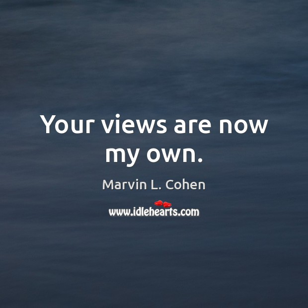 Picture Quote by Marvin L. Cohen
