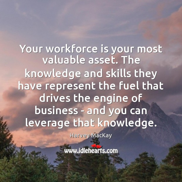 Your workforce is your most valuable asset. The knowledge and skills they Harvey MacKay Picture Quote