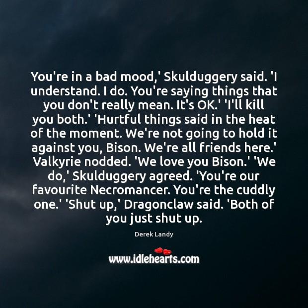 You're in a bad mood,' Skulduggery said. 'I understand. I do. Image