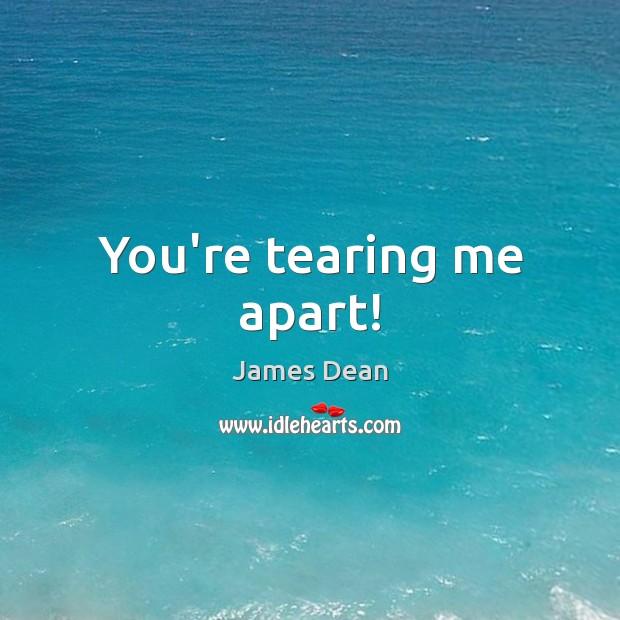 You're tearing me apart! Image