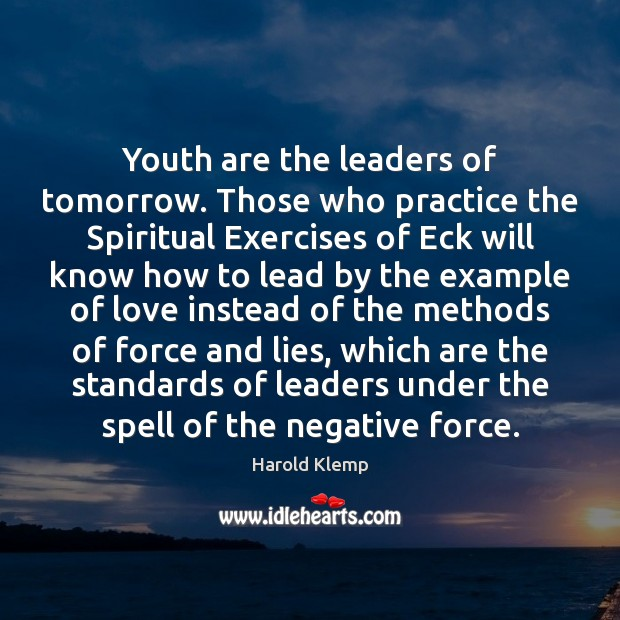 Image, Youth are the leaders of tomorrow. Those who practice the Spiritual Exercises