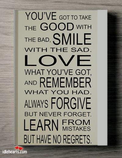 Never Regret Quotes