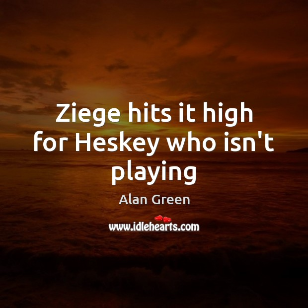 Image, Ziege hits it high for Heskey who isn't playing