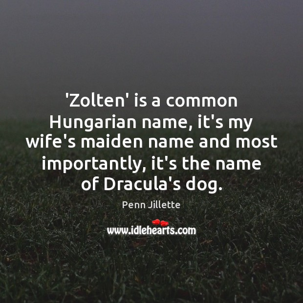 'Zolten' is a common Hungarian name, it's my wife's maiden name and Image