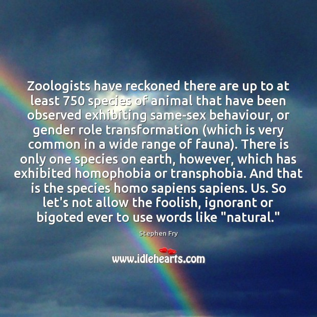 Image, Zoologists have reckoned there are up to at least 750 species of animal